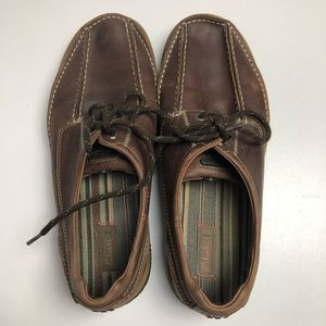 Clark's Mens Leather Upper 10W Brown Shoes